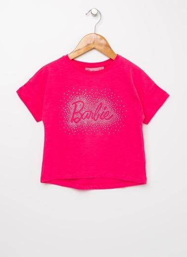 Barbie Bisiklet Yaka Tişört Fuşya